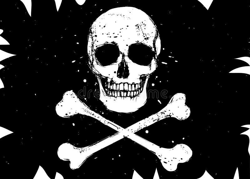 Flaga z czaszką royalty ilustracja