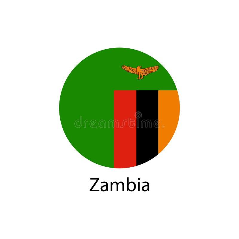 Flaga zambiowie w formie ilustracja wektor
