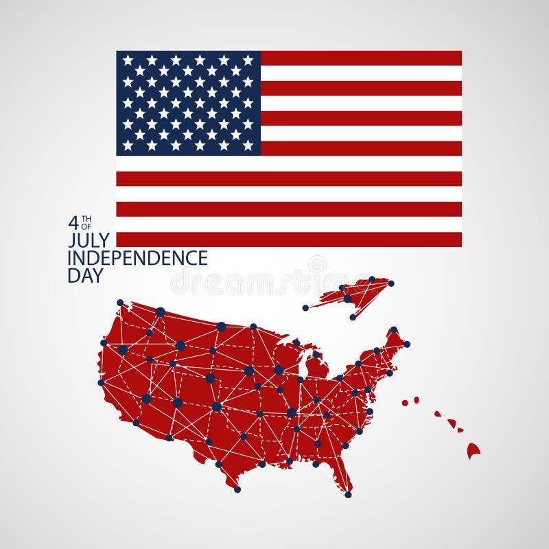 Flaga zlani stany America Stara farbująca zakłopotana tekstura krajowy symbol ilustracji
