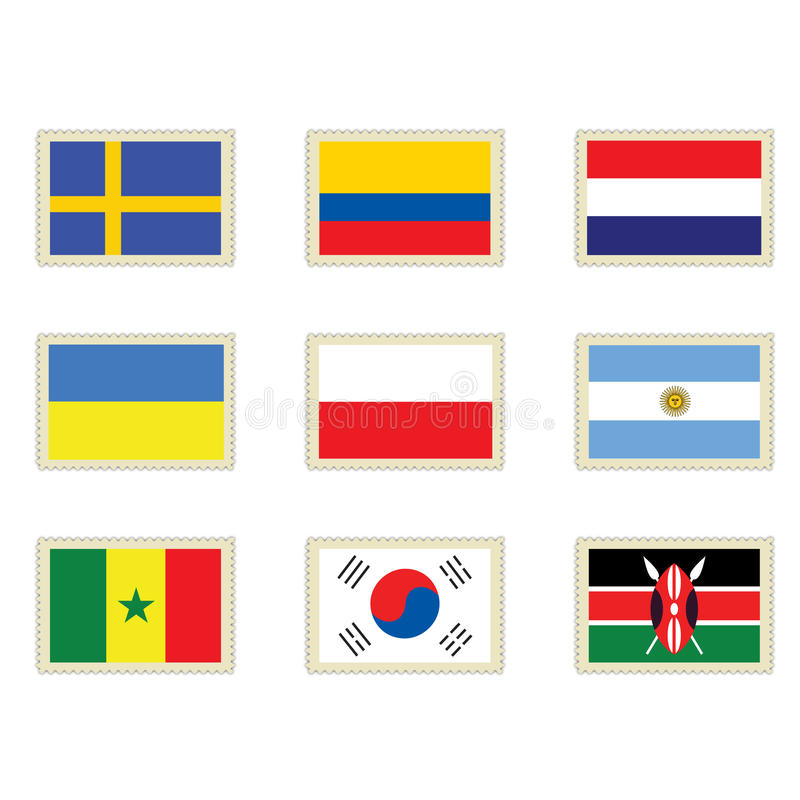 flaga znaczki ilustracji