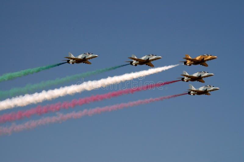 Flage du Kowéit par l'Armée de l'Air image stock