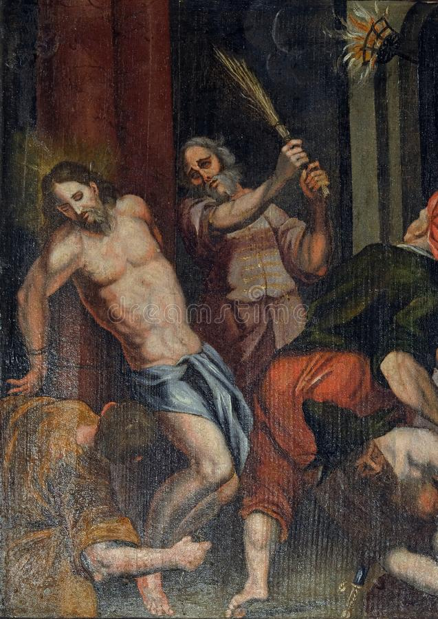 Flagellatie van Christus royalty-vrije stock afbeeldingen