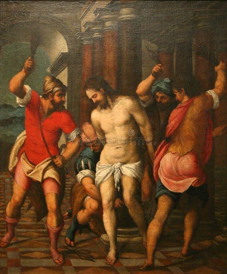 Flagellatie van Christus stock fotografie