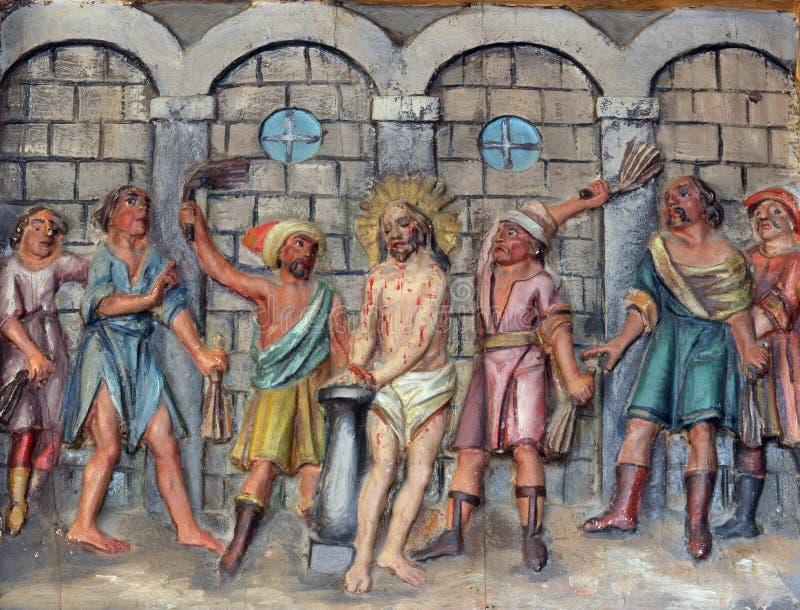 Flagellatie van Christus royalty-vrije stock foto