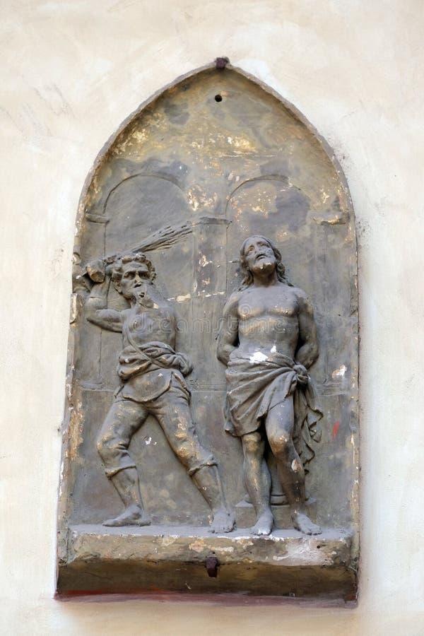 Flagellatie van Christus stock afbeelding