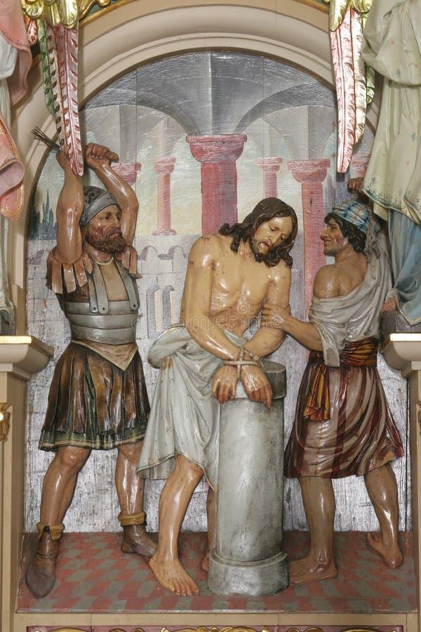 Flagellation Χριστού στοκ φωτογραφίες
