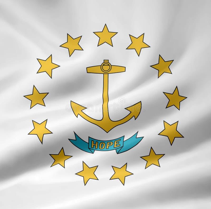 flaggaörhode royaltyfri illustrationer