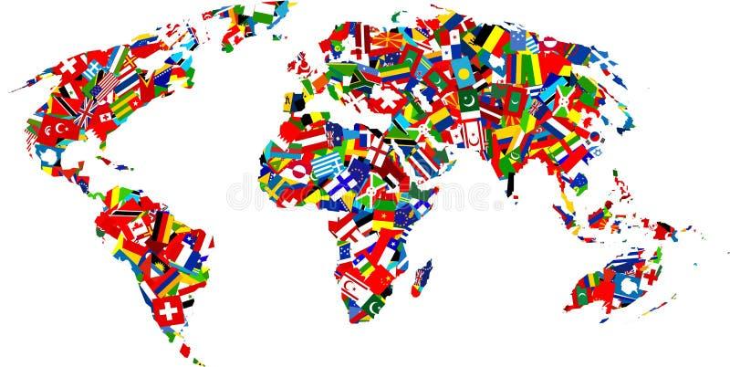 flaggaöversikt royaltyfri illustrationer