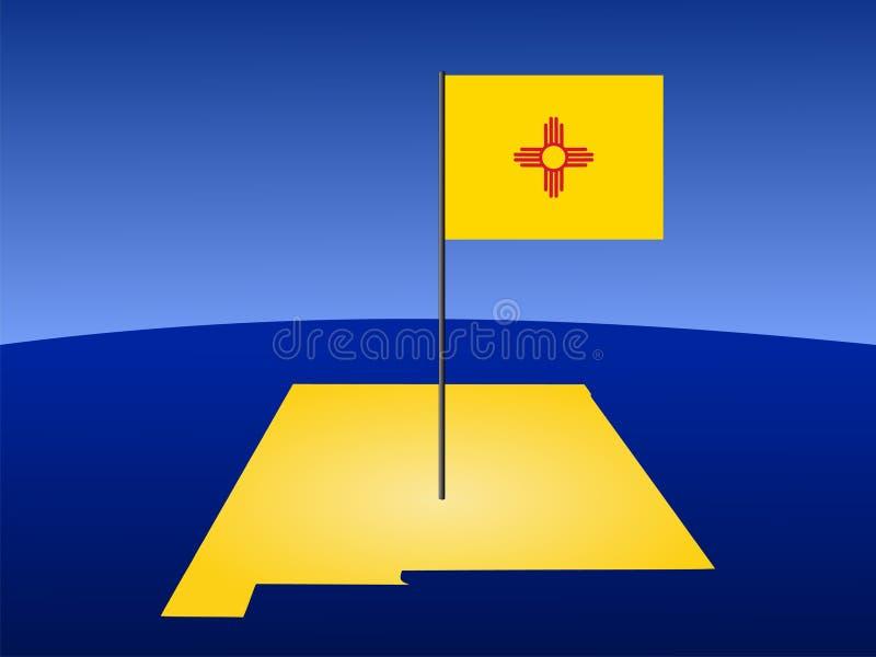 flaggaöversikt nya mexico vektor illustrationer
