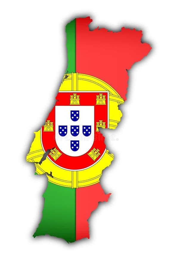 flaggaöversikt portugal royaltyfri illustrationer