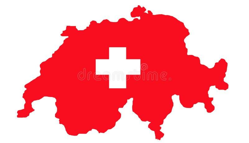 flaggaöversikt switzerland stock illustrationer