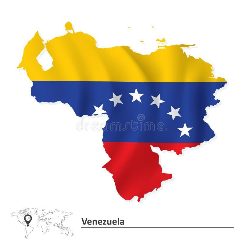 flaggaöversikt venezuela vektor illustrationer
