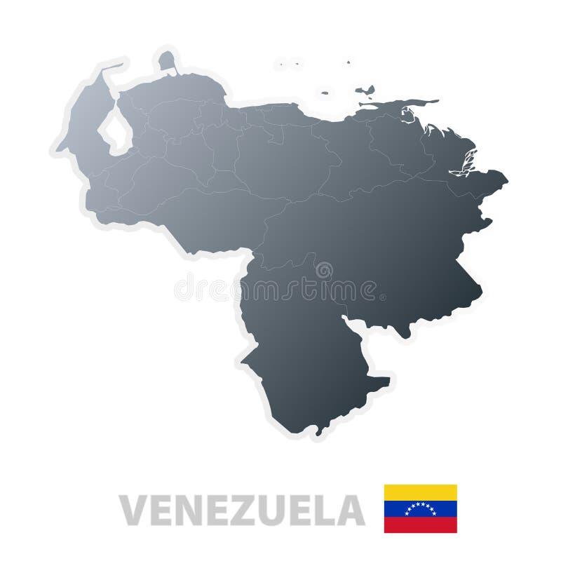 flaggaöversiktsofficiell venezuela stock illustrationer