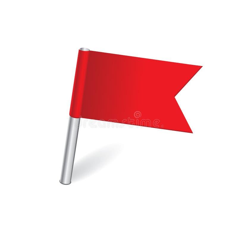 Flaggaöversiktsstift royaltyfri illustrationer