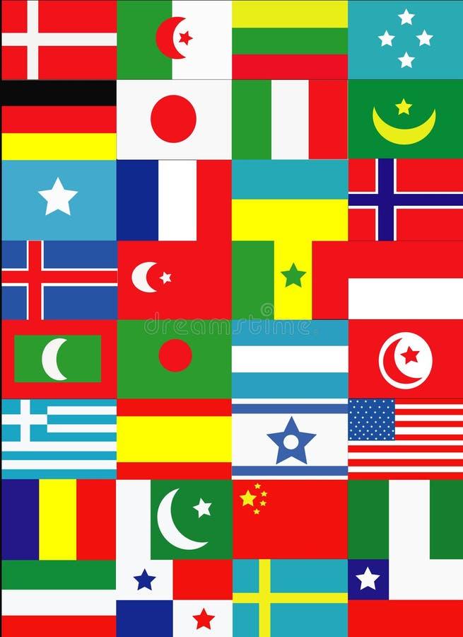 flagga vektor illustrationer