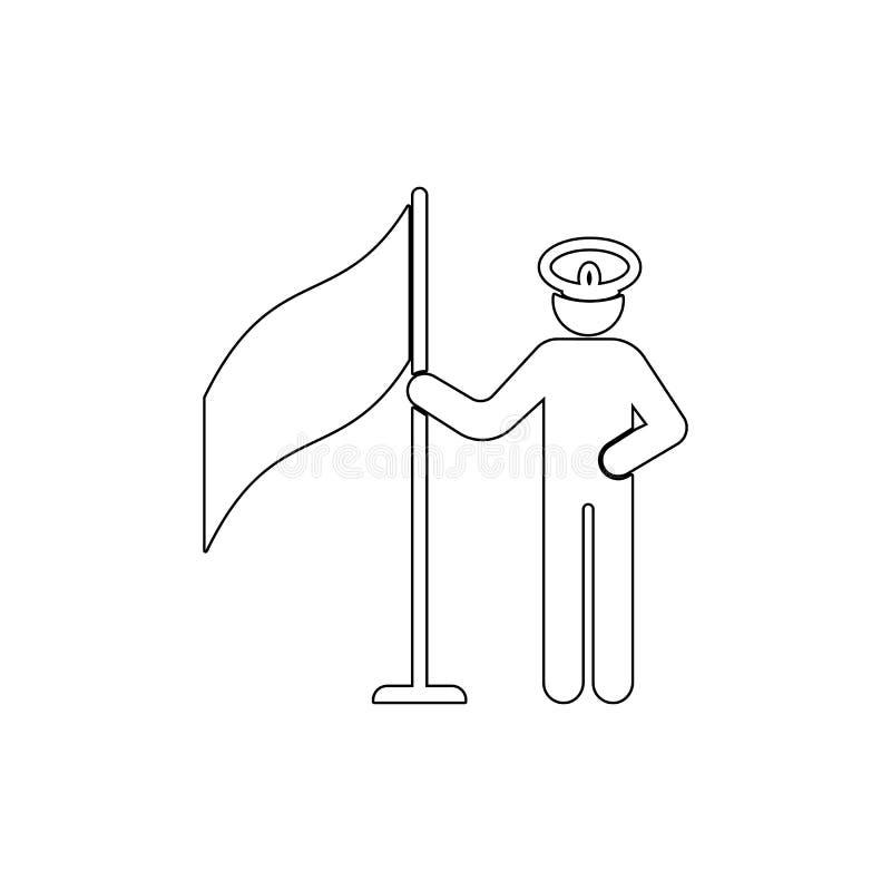 Flagga arm stock illustrationer