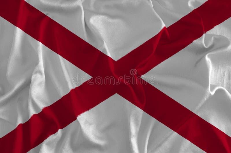 Flagga av Alabama bakgrund, hjärta av Dixie vektor illustrationer
