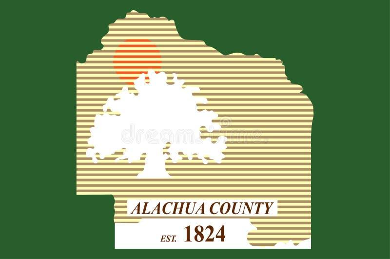 Flagga av Alachua County i Florida av USA stock illustrationer