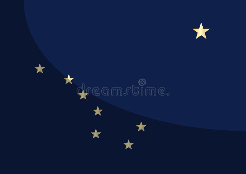 Flagga av Alaska med skugga vektor illustrationer