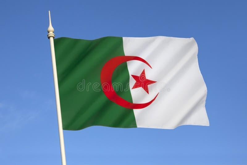 Flagga av Algeriet - Nordafrika fotografering för bildbyråer