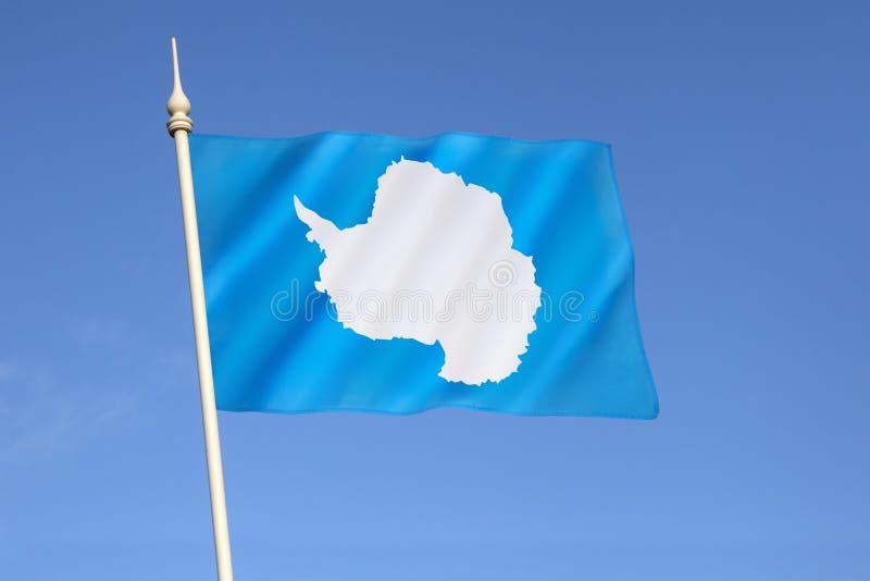 Flagga av Antarktis fotografering för bildbyråer