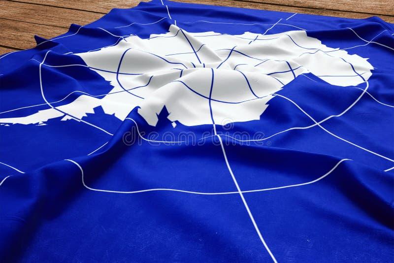 Flagga av Antarktis p? en tr?skrivbordbakgrund B?sta sikt f?r siden- flagga arkivbilder