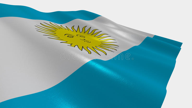 Flagga av argentinaren royaltyfri illustrationer