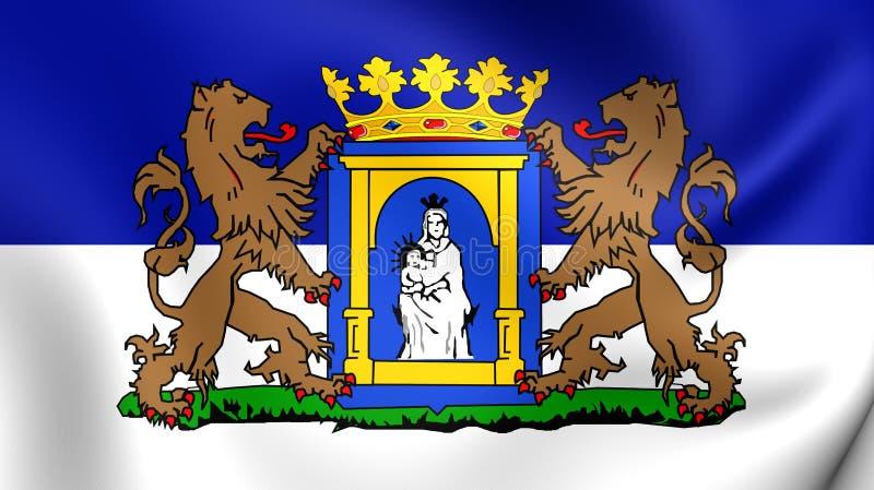Flagga av Assen, Nederländerna stock illustrationer