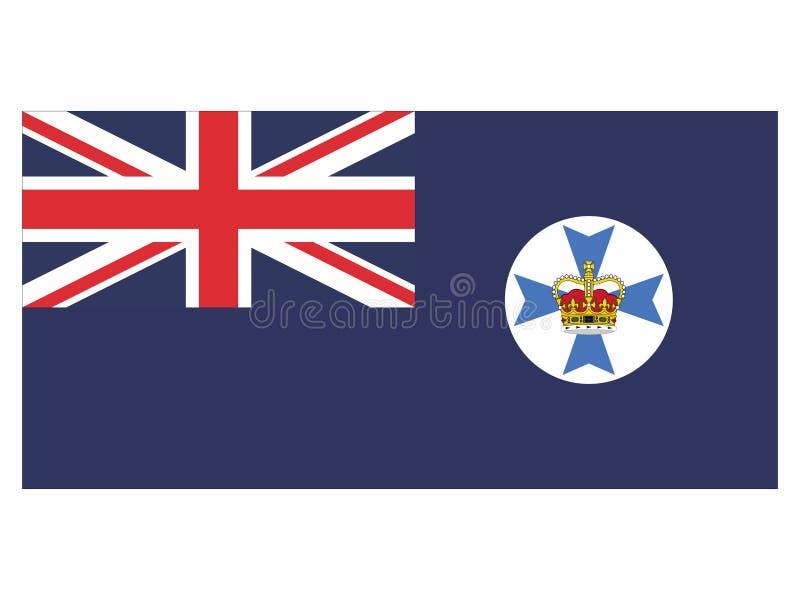 Flagga av australiska staten av Queensland royaltyfri illustrationer