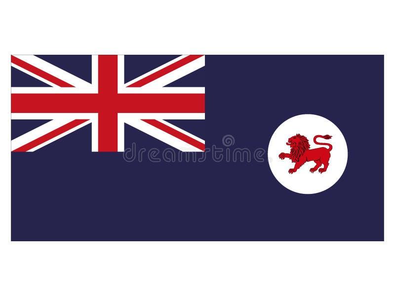 Flagga av australiska staten av Tasmanien royaltyfri illustrationer