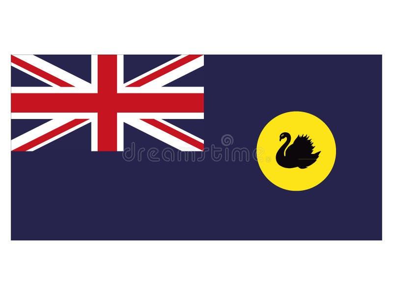 Flagga av australiska staten av västra Australien royaltyfri illustrationer