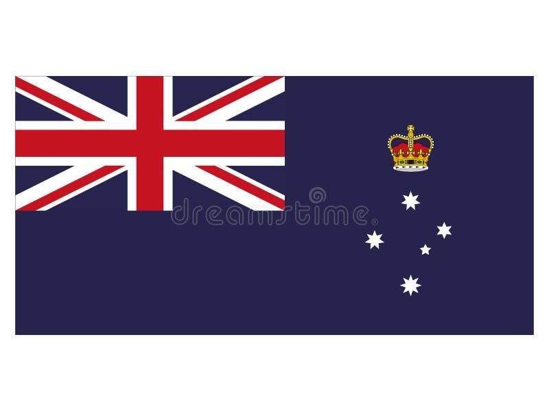 Flagga av australiska staten av Victoria royaltyfri illustrationer