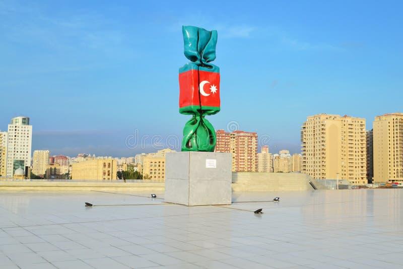 Flagga av Azerbajdzjan royaltyfri foto