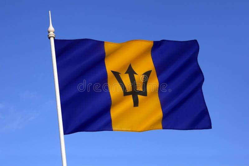 Flagga av Barbados royaltyfria foton