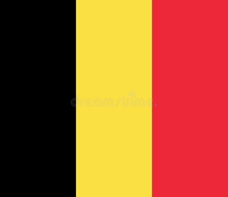 Flagga av Belgien Vektorillustration EPS10 royaltyfri illustrationer