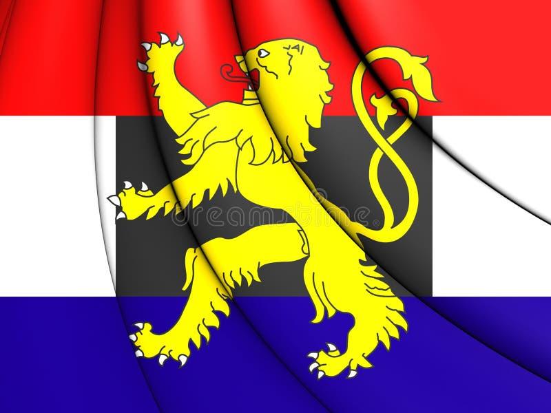 Flagga av Benelux vektor illustrationer