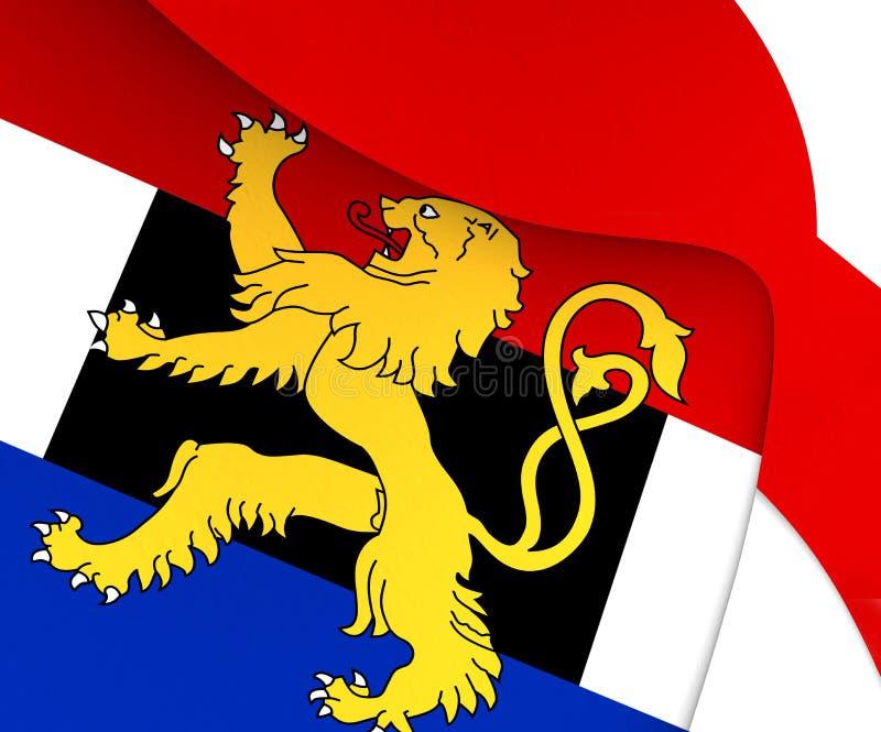 Flagga av Benelux stock illustrationer