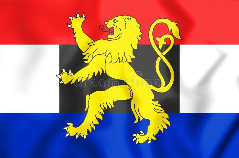 Flagga av Benelux illustration 3d royaltyfri illustrationer