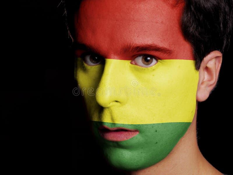 Flagga av Bolivia arkivfoton