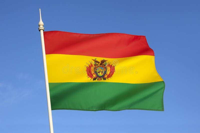 Flagga av Bolivia - Sydamerika arkivfoton