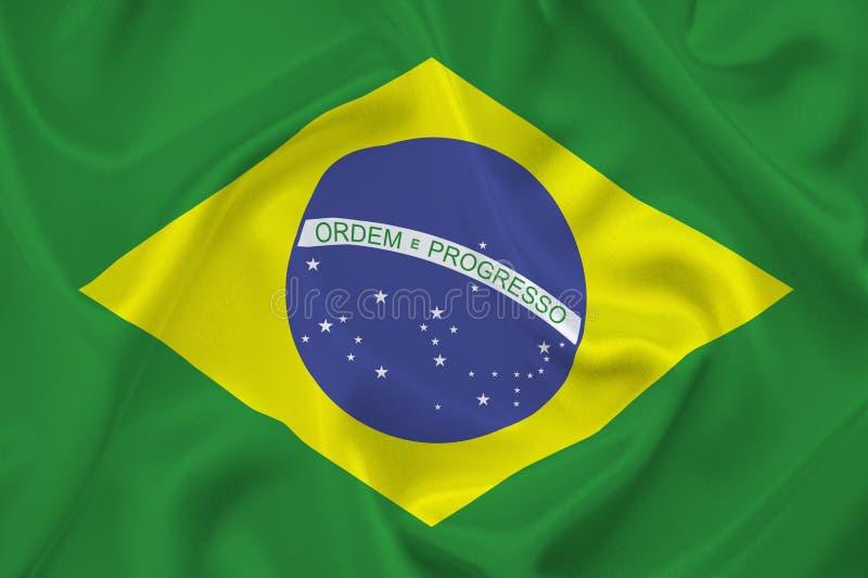 Flagga av Brasilien royaltyfria bilder