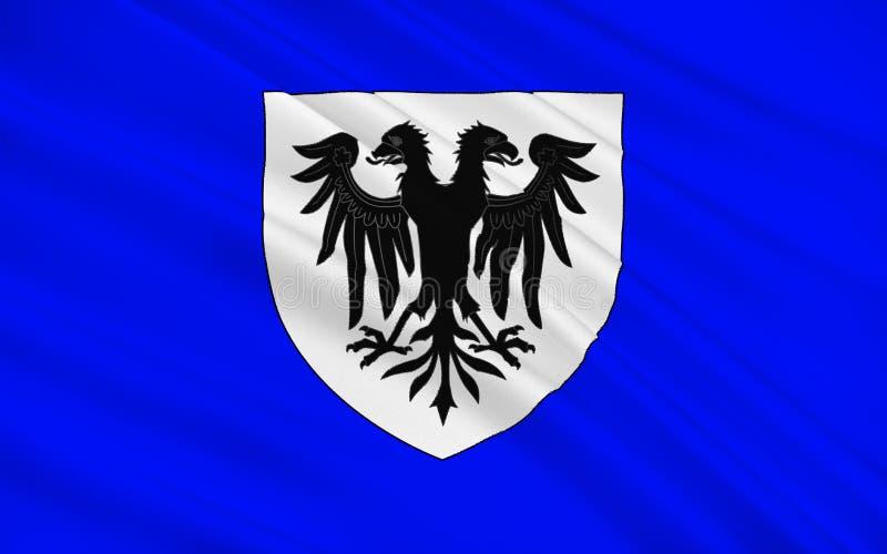 Flagga av Bressuire, Frankrike arkivbild