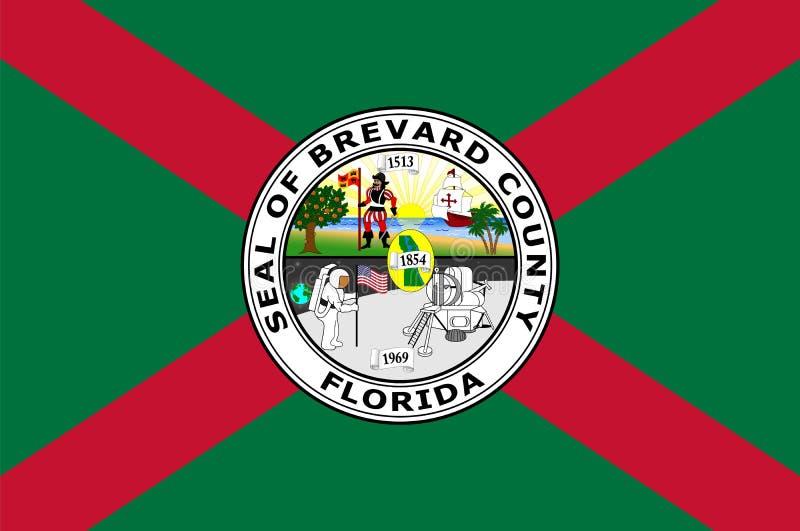 Flagga av Brevard County i Florida av USA royaltyfri illustrationer