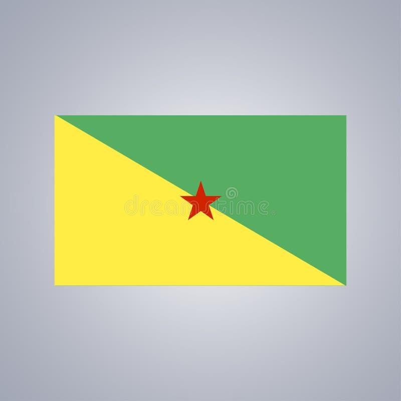 Flagga av Cayenne, Franska Guyana stock illustrationer