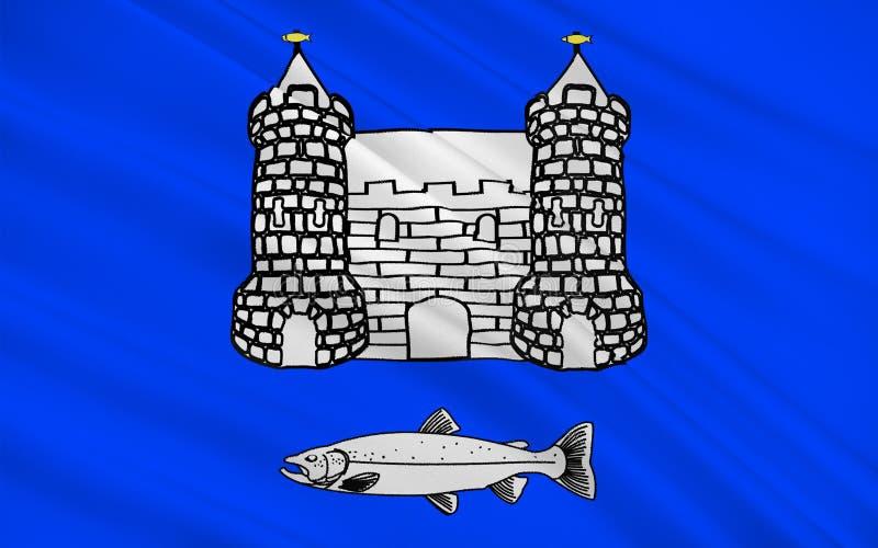 Flagga av Chateaulin, Frankrike arkivbilder
