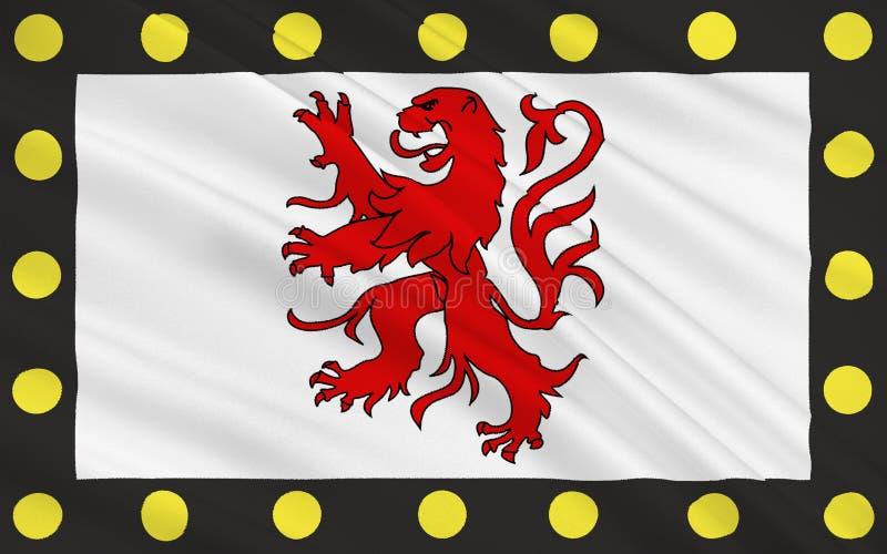 Flagga av Chatellerault, Frankrike arkivfoto