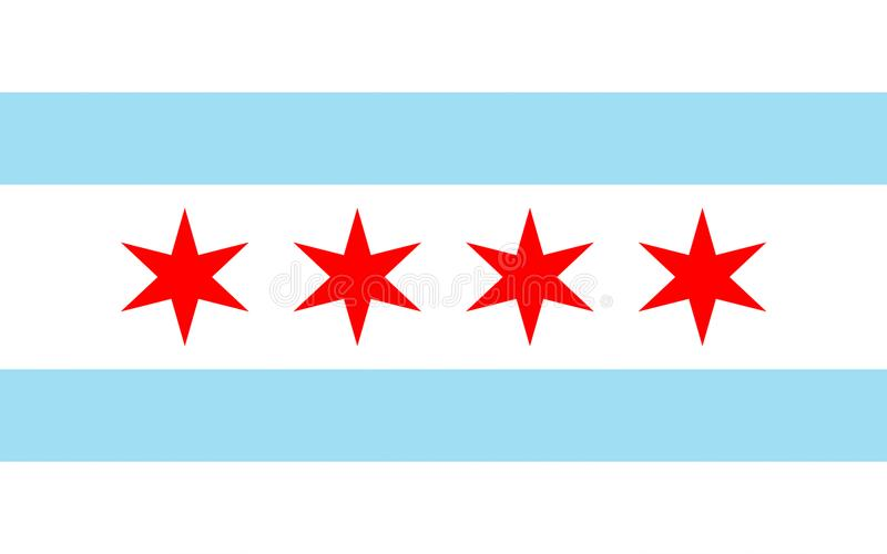 Flagga av Chicago, USA royaltyfri bild