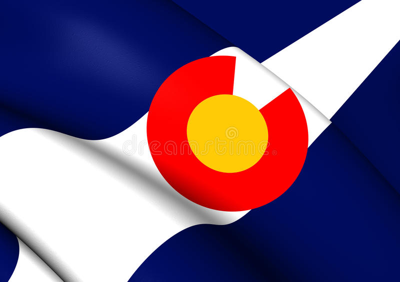 Flagga av Colorado, USA stock illustrationer