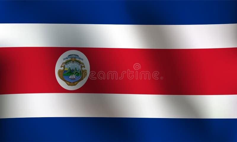Flagga av Costa Rica - vektorillustration royaltyfri illustrationer