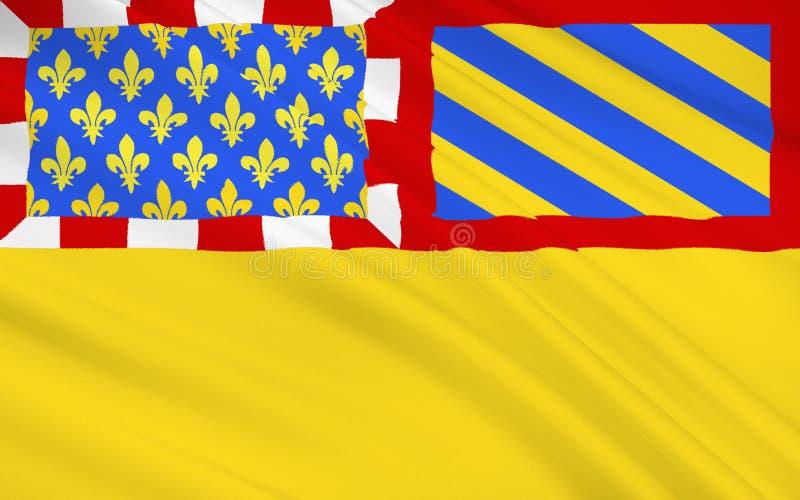 Flagga av Cote d'Or vektor illustrationer